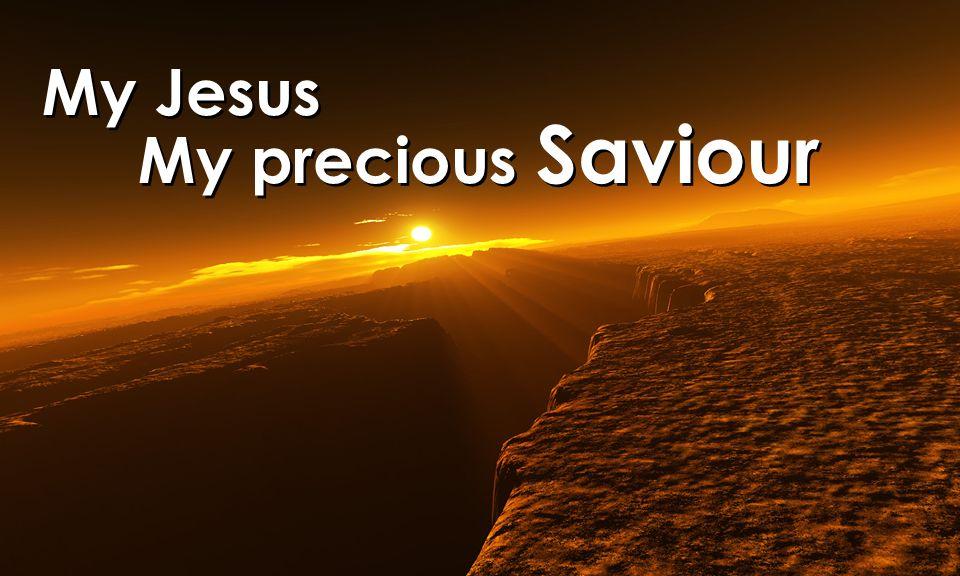My Jesus My precious Saviour