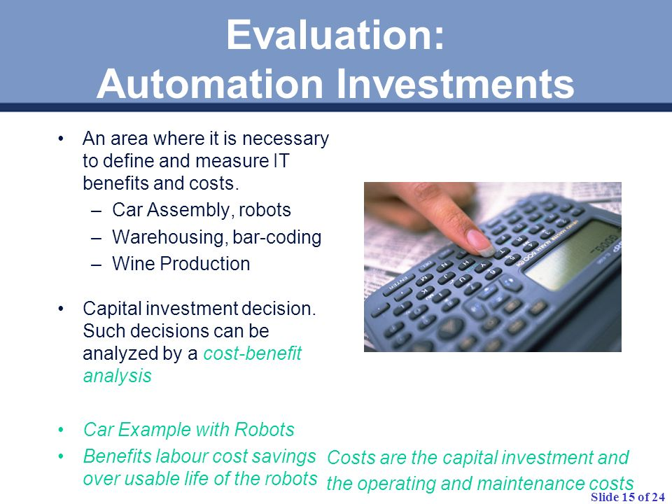 Evaluation: Automation Investments