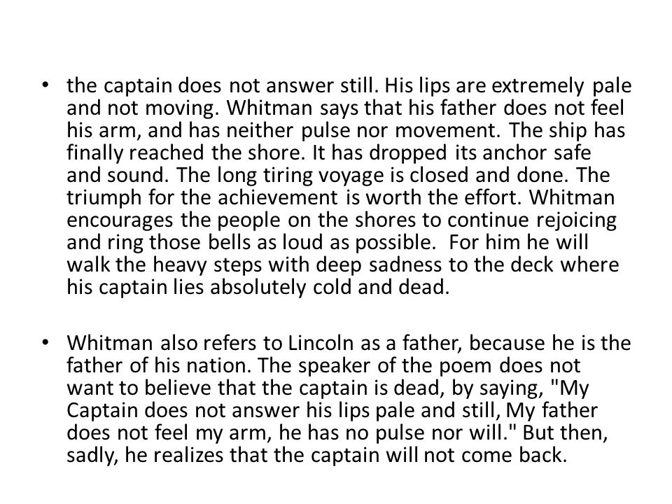 the captain does not answer still