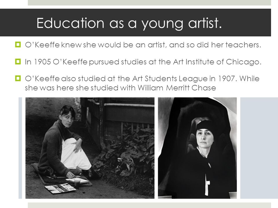 Education as a young artist.
