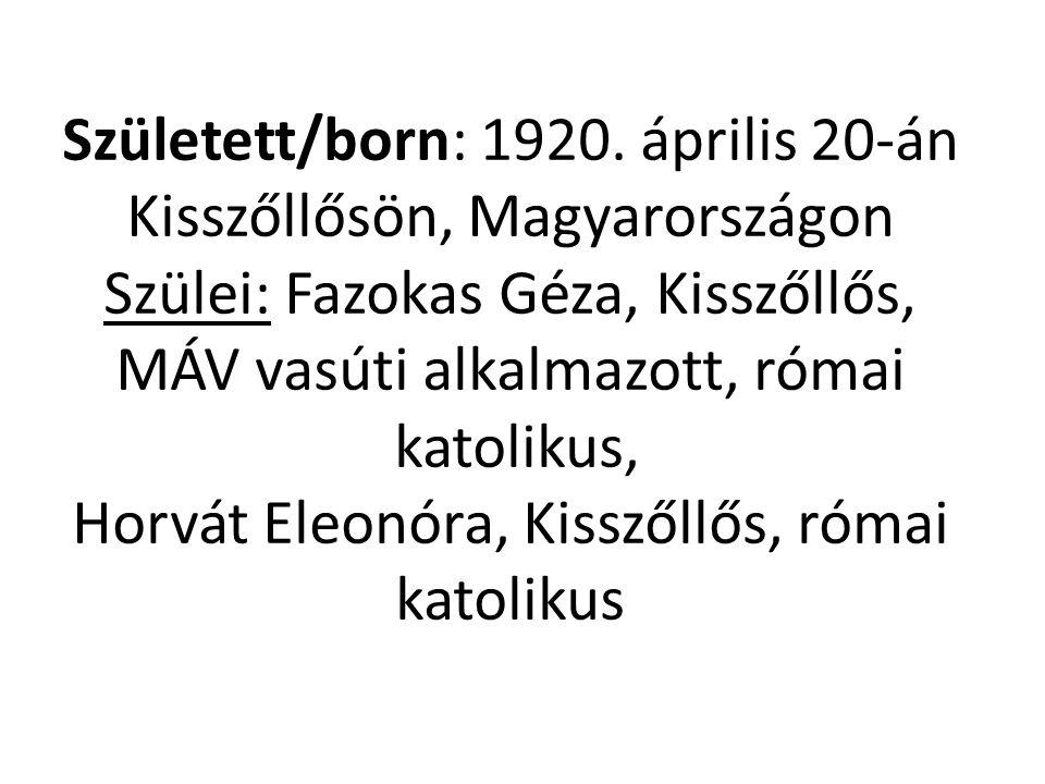 Született/born: 1920.