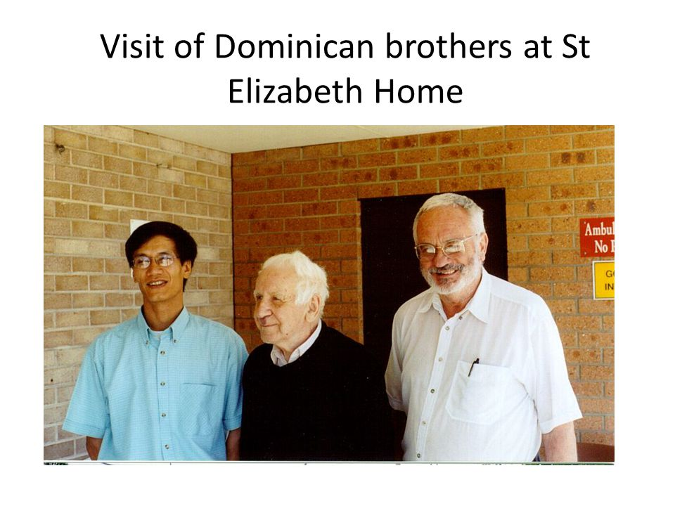 Visit of Dominican brothers at St Elizabeth Home