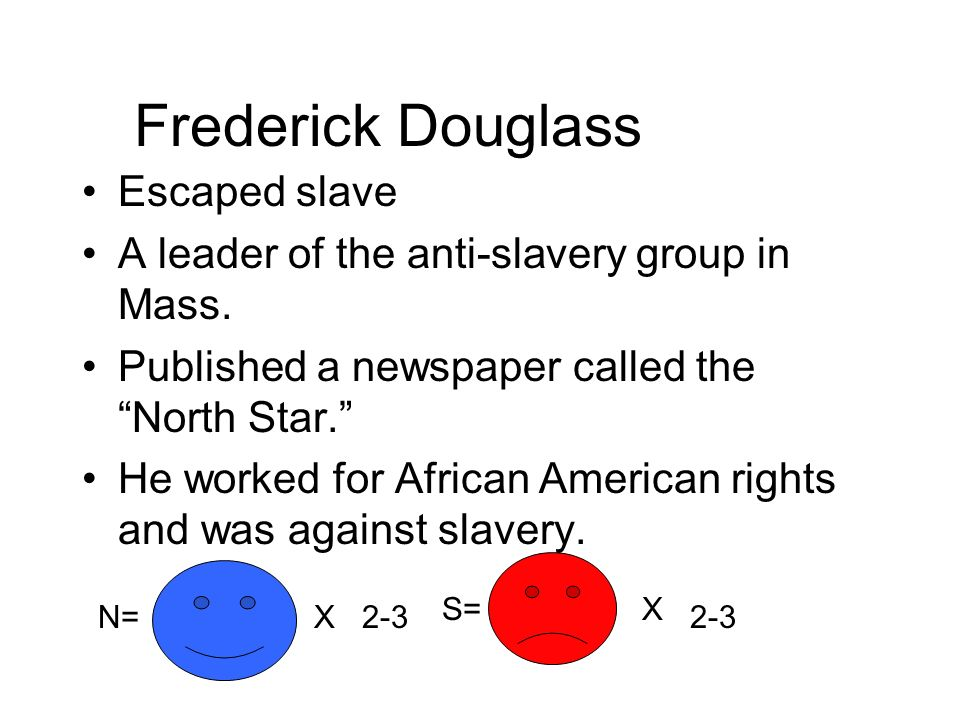 Frederick Douglass Escaped slave