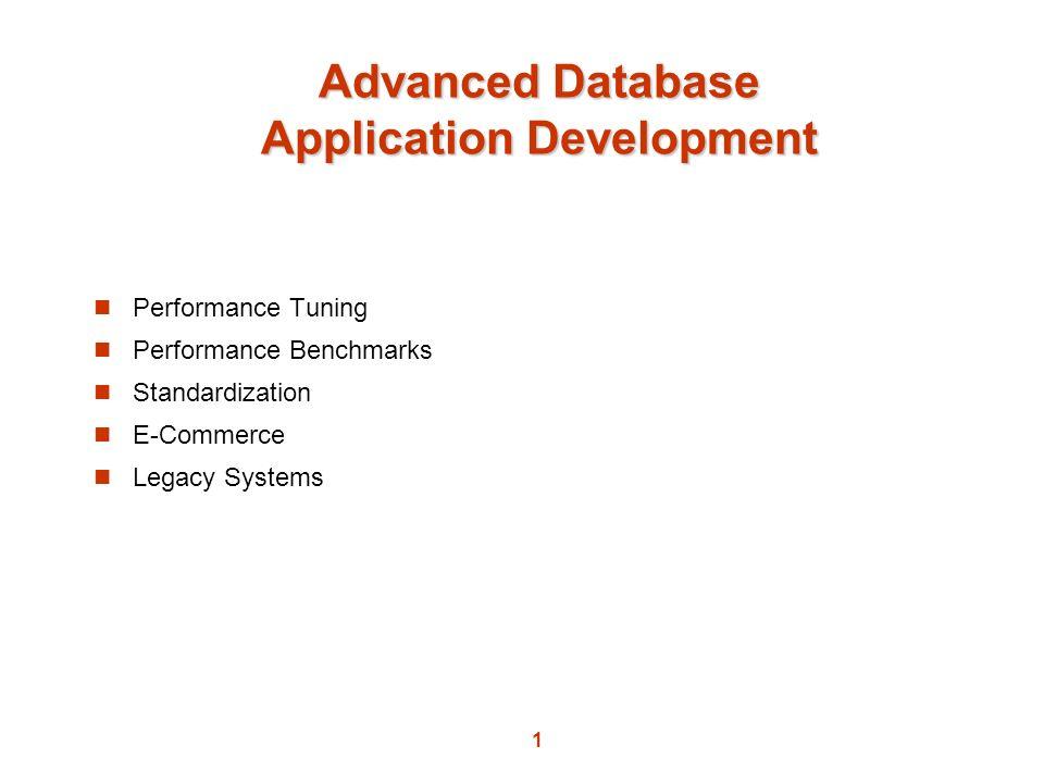 Advanced Database Application Development