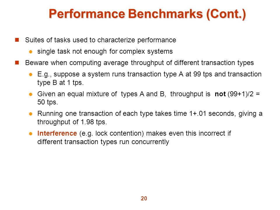 Performance Benchmarks (Cont.)