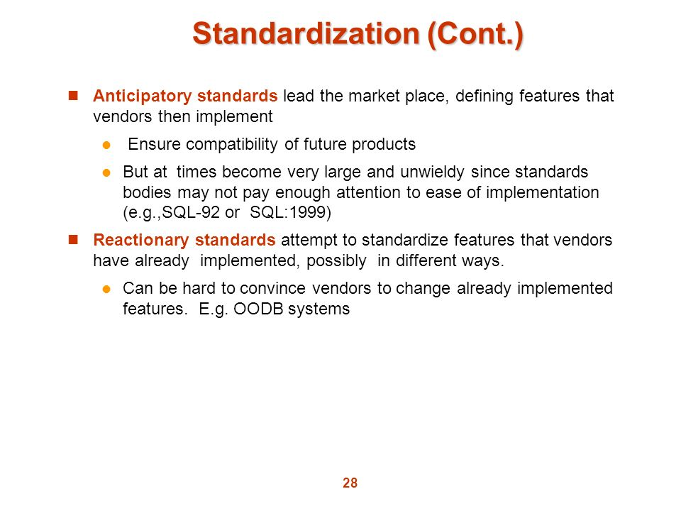 Standardization (Cont.)