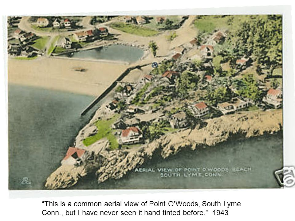 This is a common aerial view of Point O Woods, South Lyme Conn