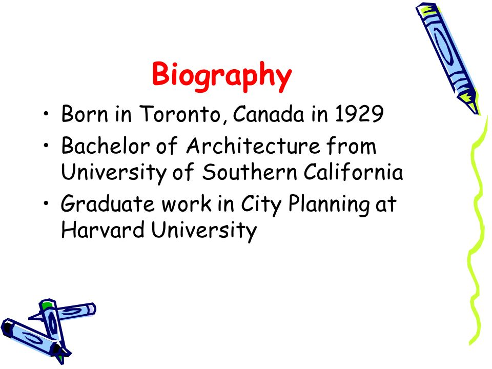 Biography Born in Toronto, Canada in 1929