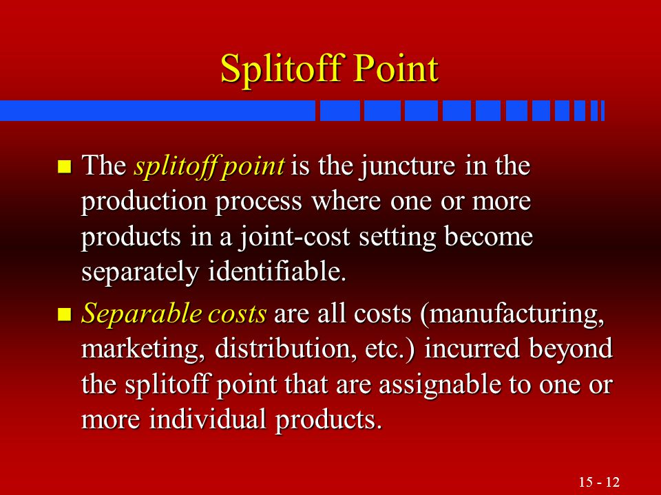 Splitoff Point