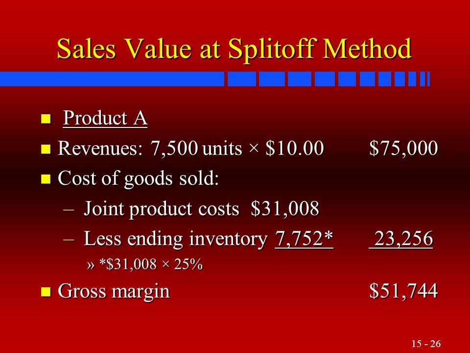 Sales Value at Splitoff Method