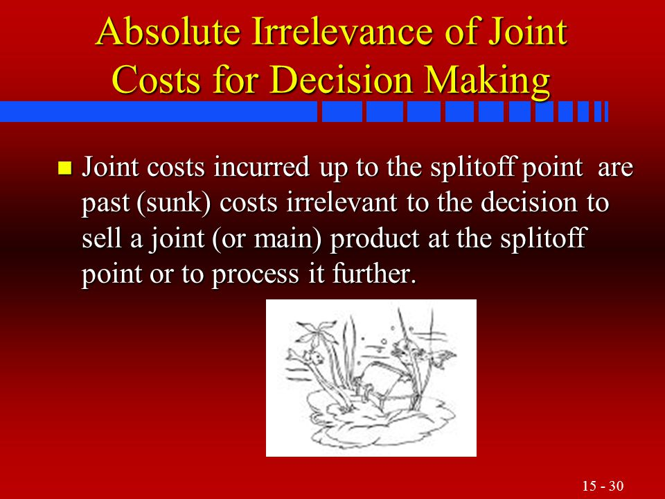 Absolute Irrelevance of Joint Costs for Decision Making