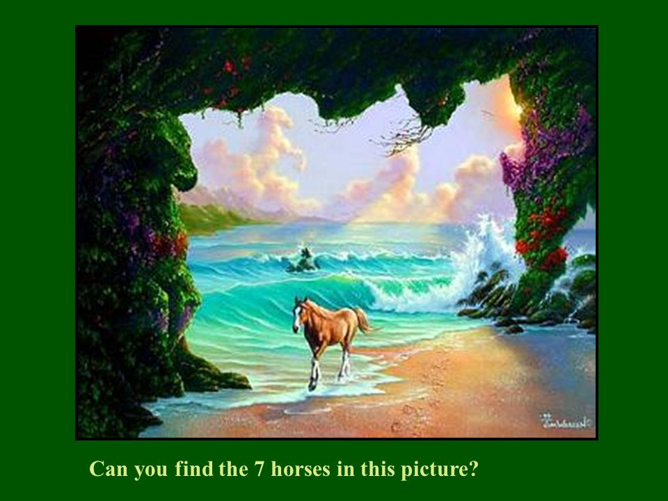Can you find the 7 horses in this picture