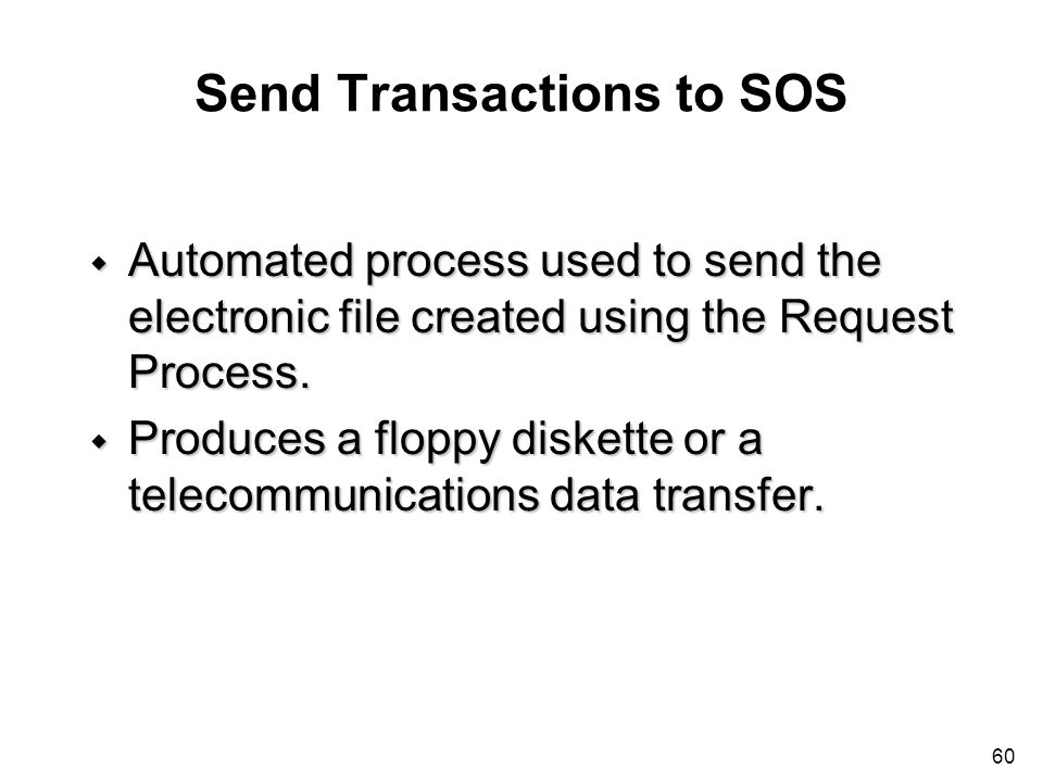 Send Transactions to SOS