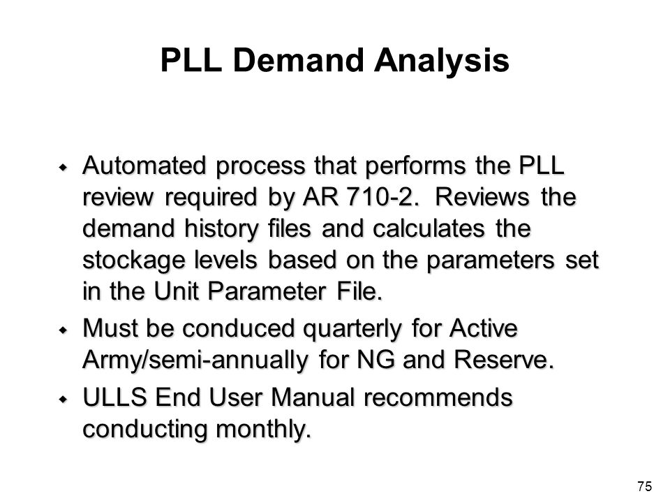 PLL Demand Analysis