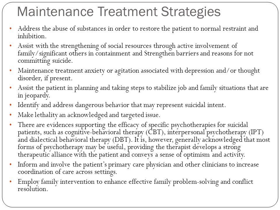 Maintenance Treatment Strategies