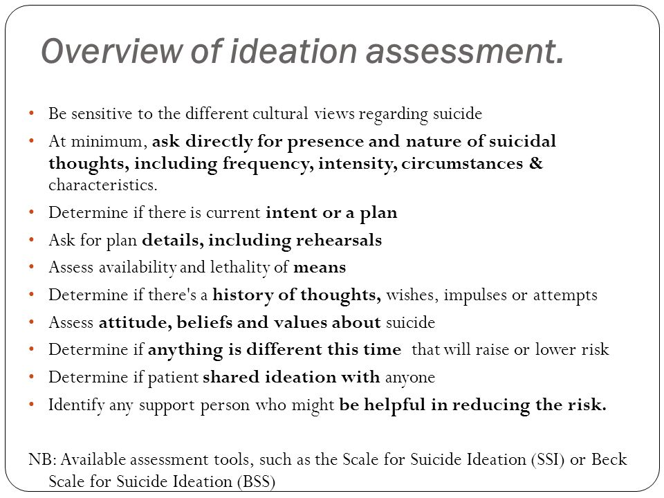 Overview of ideation assessment.