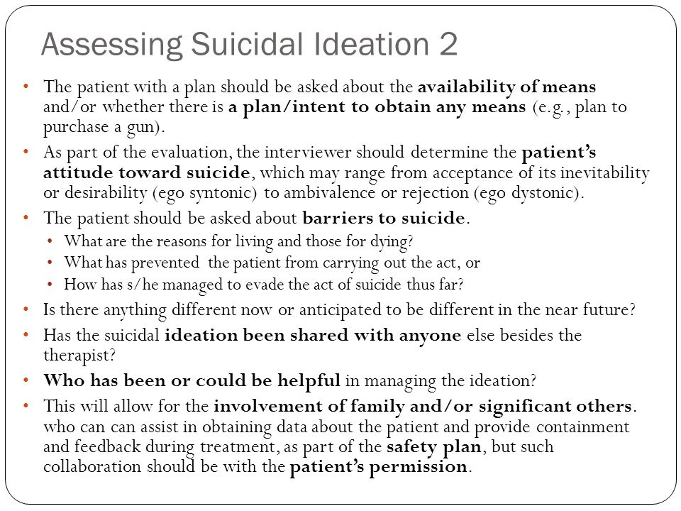 Assessing Suicidal Ideation 2