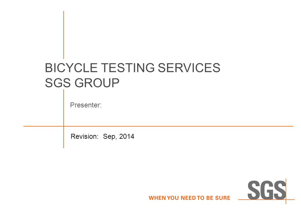 BICYCLE TESTING SERVICES SGS GROUP