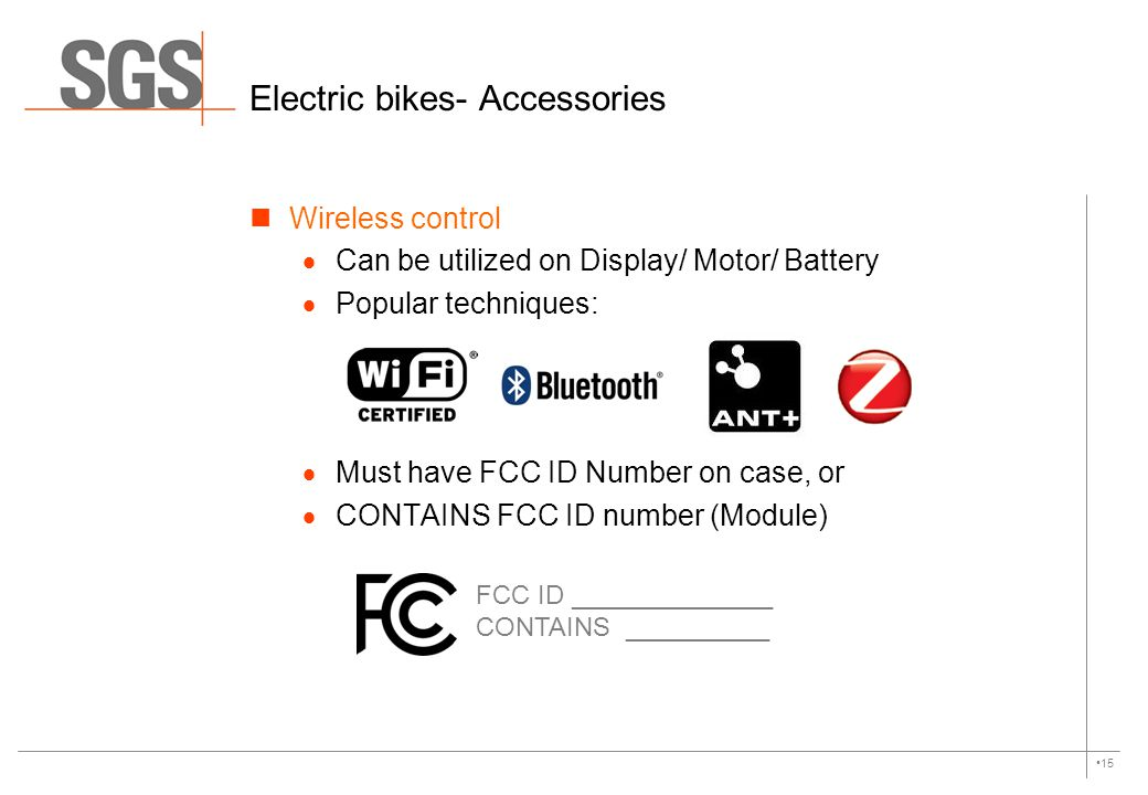 Electric bikes- Accessories