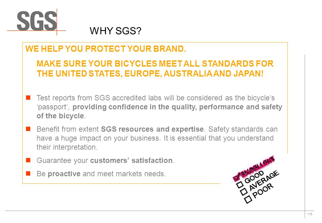 WHY SGS WE HELP YOU PROTECT YOUR BRAND.
