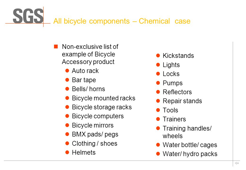All bicycle components – Chemical case