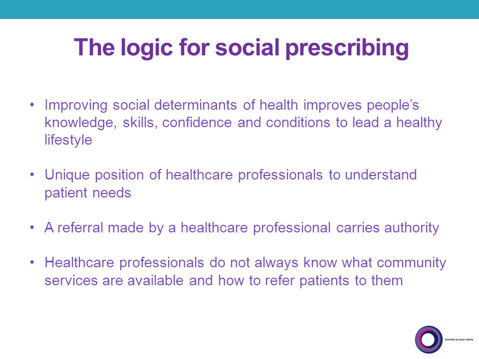 The logic for social prescribing