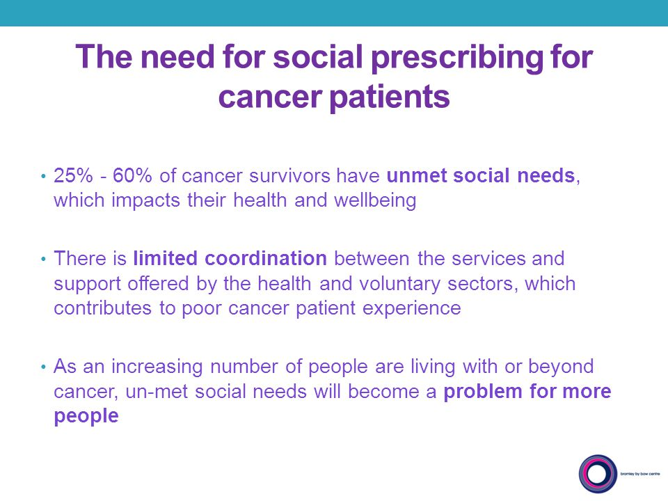 The need for social prescribing for cancer patients