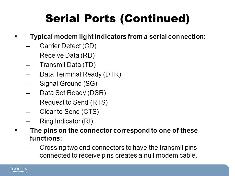 Serial Ports (Continued)