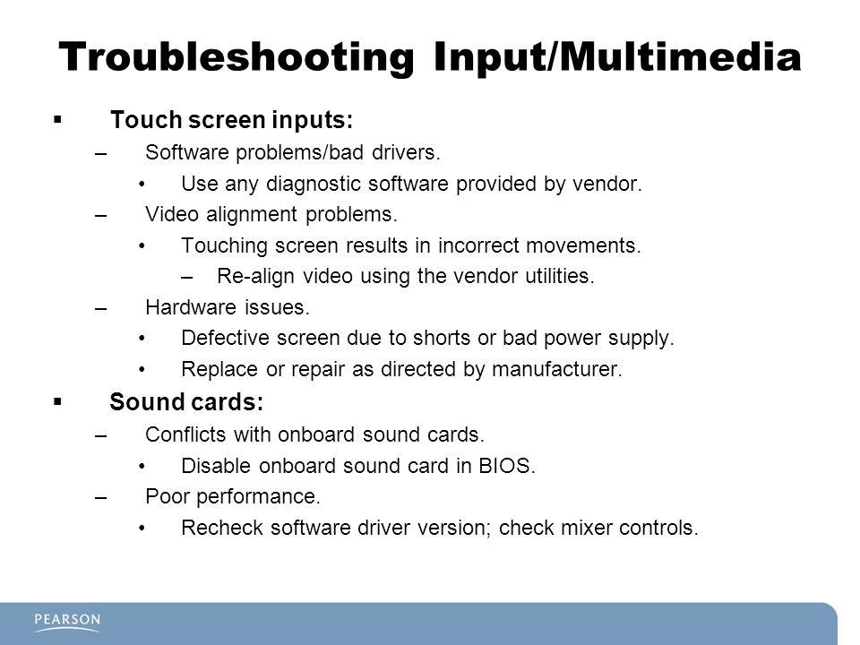 Troubleshooting Input/Multimedia