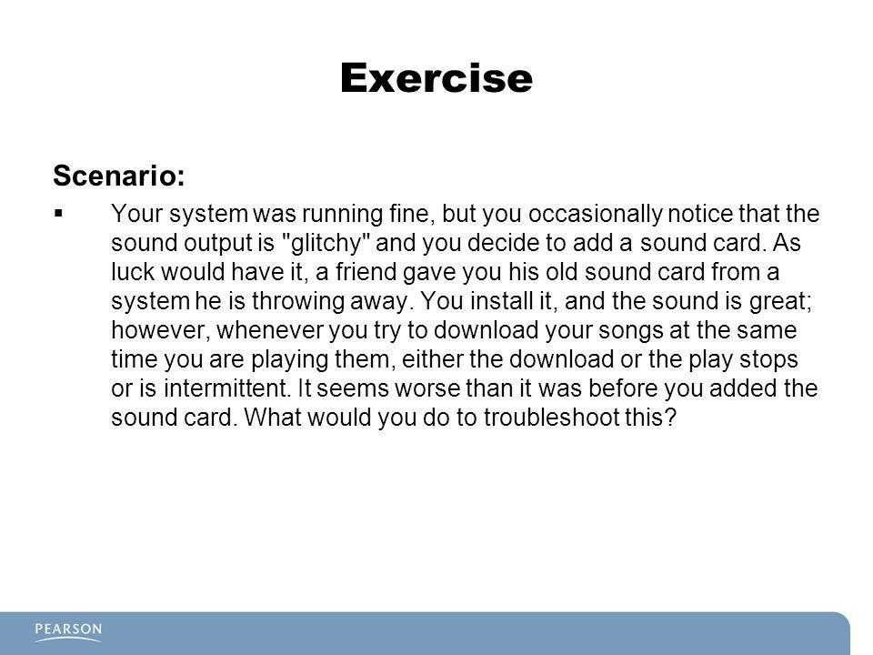 Exercise Scenario: