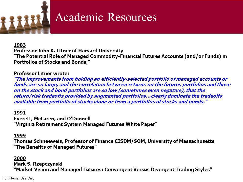 Academic Resources 1983 Professor John K. Litner of Harvard University
