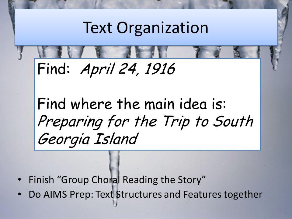 Text Organization Find: April 24, 1916