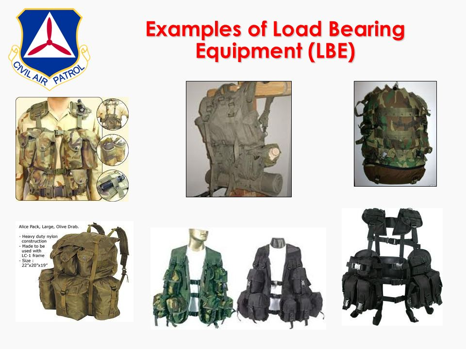 Examples of Load Bearing Equipment (LBE)