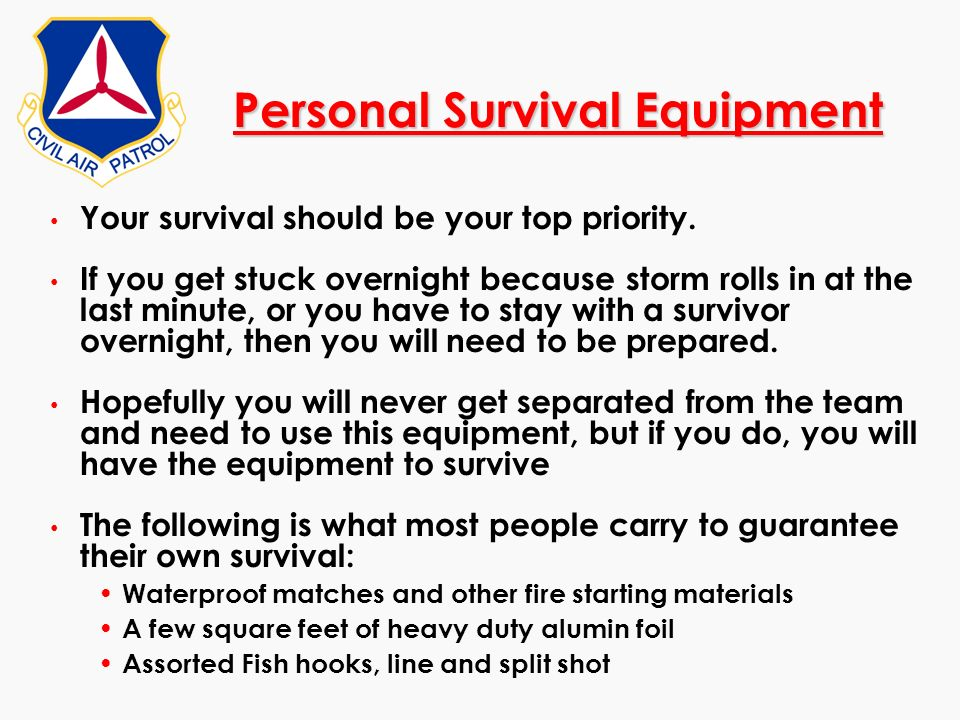 Personal Survival Equipment