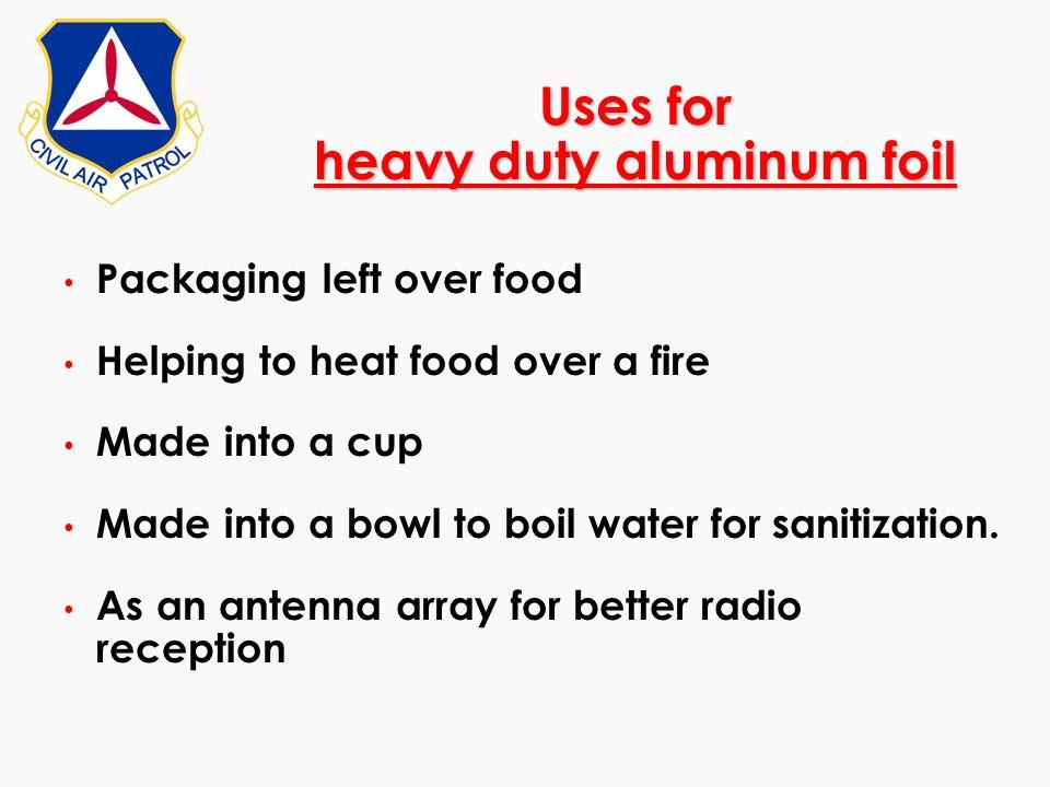 Uses for heavy duty aluminum foil