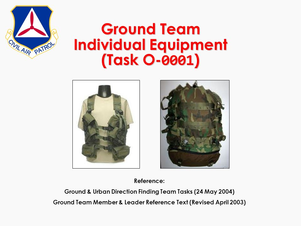 Ground Team Individual Equipment (Task O-0001)