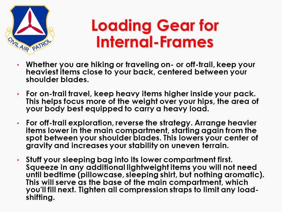 Loading Gear for Internal-Frames