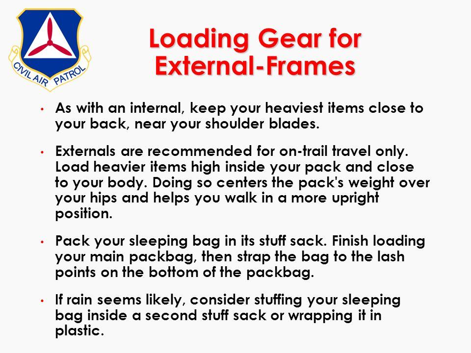 Loading Gear for External-Frames