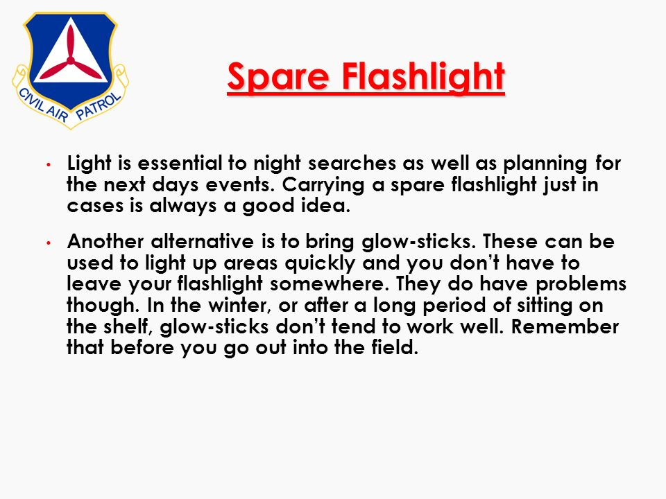Spare Flashlight