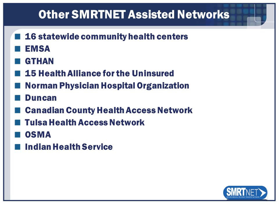 Other SMRTNET Assisted Networks