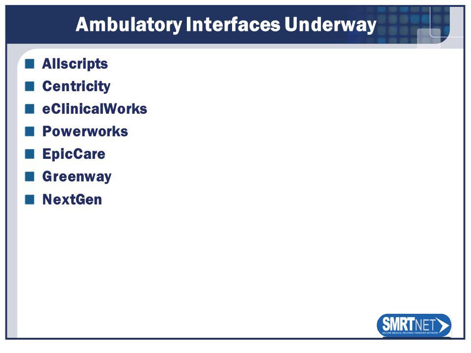 Ambulatory Interfaces Underway