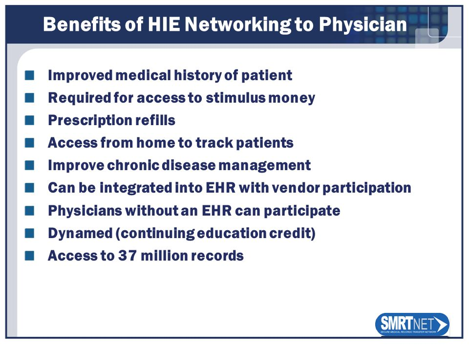 Benefits of HIE Networking to Physician