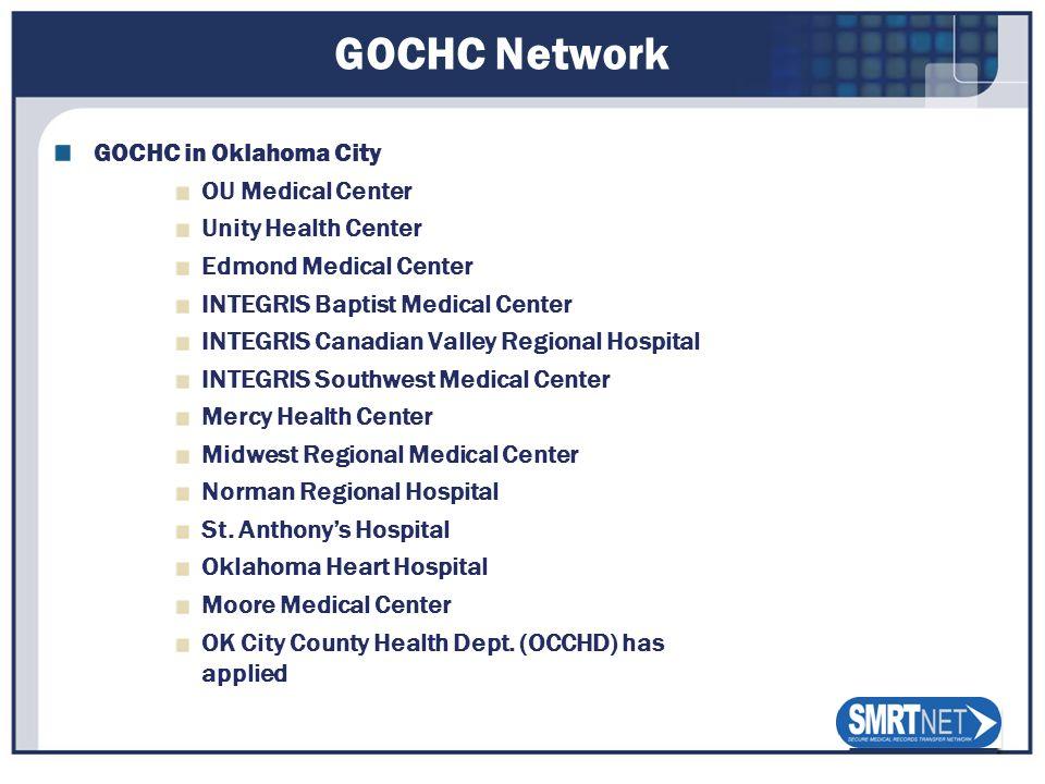 GOCHC Network GOCHC in Oklahoma City OU Medical Center