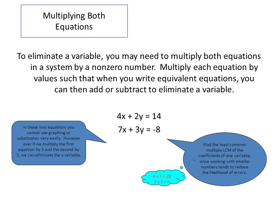 Multiplying Both Equations