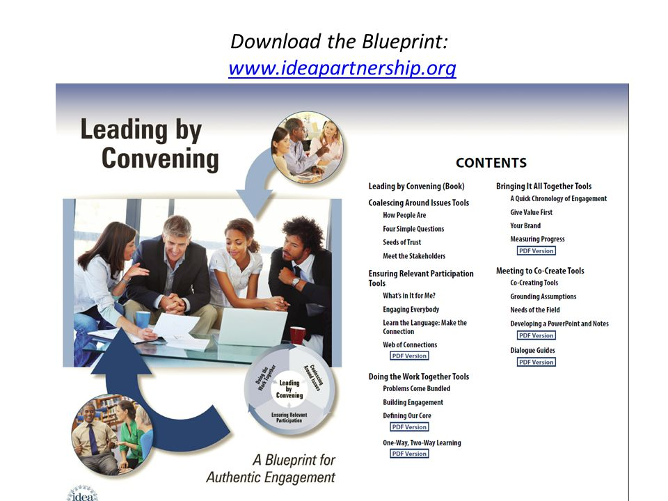 Download the Blueprint: www.ideapartnership.org