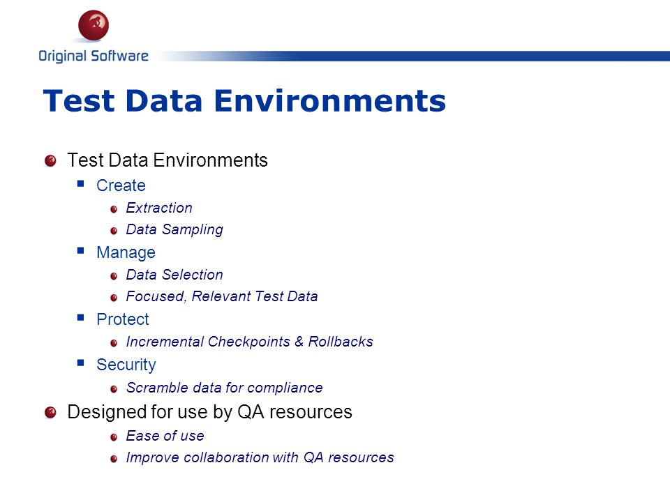 Test Data Environments
