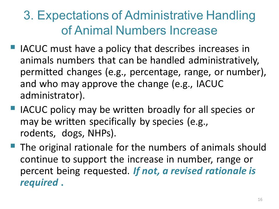 3. Expectations of Administrative Handling of Animal Numbers Increase