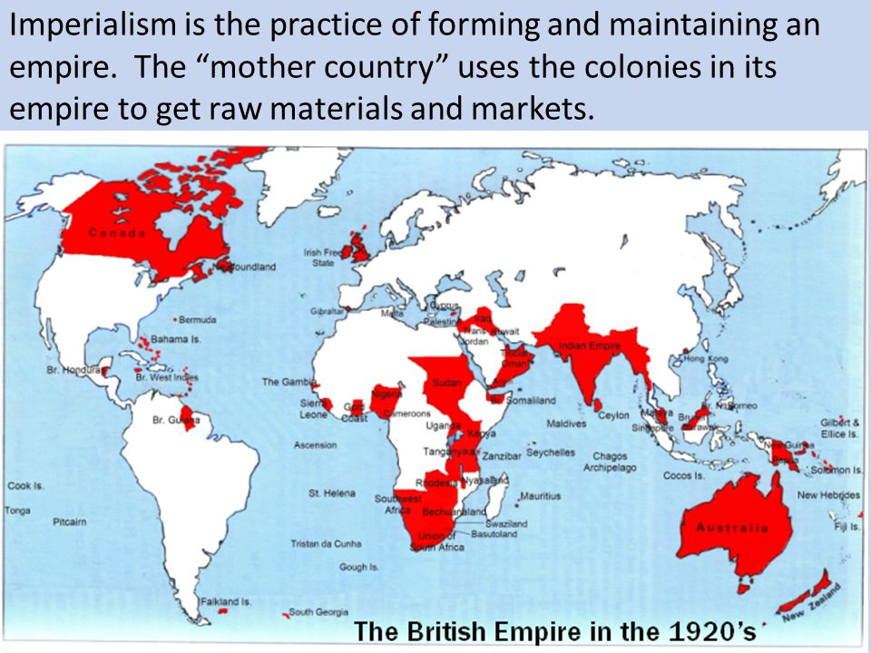 Imperialism is the practice of forming and maintaining an empire
