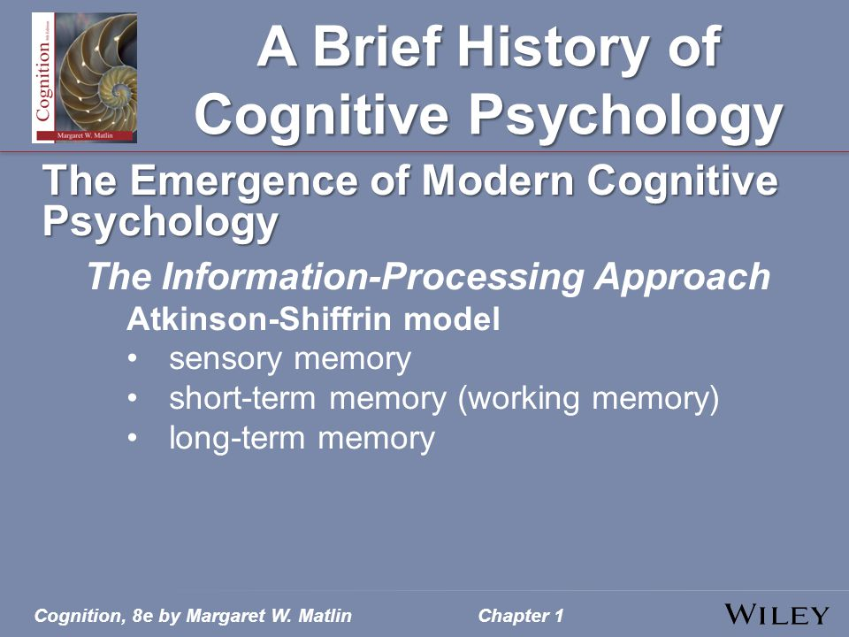 A Brief History of Cognitive Psychology