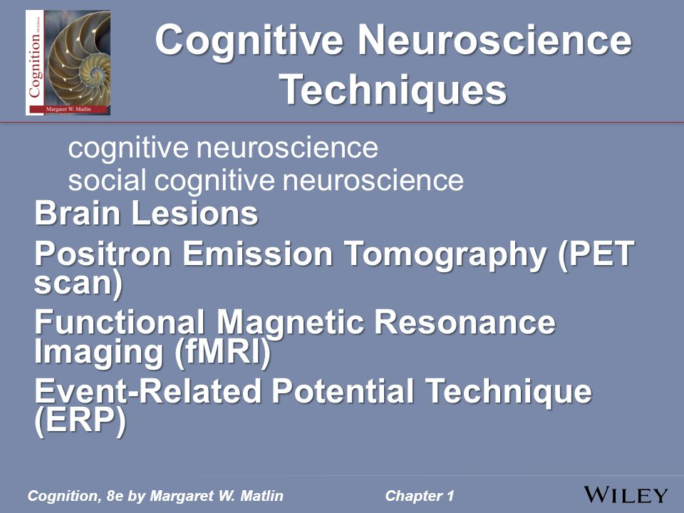 Cognitive Neuroscience Techniques